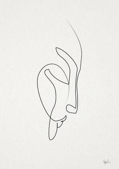 Quibe One Line Minimal Illustrations - Mourning