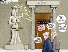 Presumptuous Politics: DOJ Holder Cartoons ( The Past Can Still Haunt )