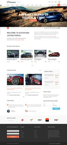 Auto Stars - Car Dealership & Listings WordPress Theme #website #webdesign Live Preview and Download: http://themeforest.net/item/auto-stars-car-dealership-listings-wp-theme/11560490?ref=ksioks