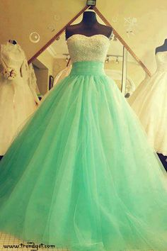 I know this is a prom dress...but I LOVE the idea of having a colored wedding dress!
