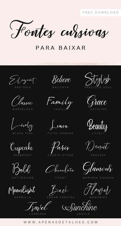 A collection of beautiful cursive fonts. Beautiful Cursive Fonts, Beautiful Fonts, Pretty Fonts, Cursive Font Download, Font Free, Free Calligraphy Fonts Download, Best Free Fonts, Free Fonts Download, Tattoo Fonts Cursive