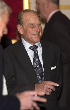 Prince Philip, Duke of Edinburgh speaks to a group of guests during a reception to mark the launch of the Christ Church Cathedral Music Trust at St James's Palace on March 4, 2014, in London, England.