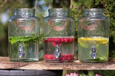 Our gorgeous dispensers are perfect for serving drinks.