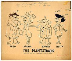 The Flintstones cast model sheet