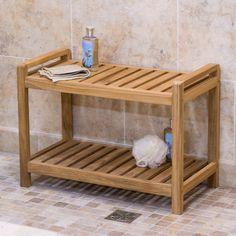 $149 Belham Living Teak Shower Bench - Shower Seats at Hayneedle
