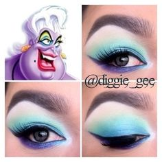 A softer touch on Ursula's makeup from The Little Mermaid