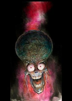 Image about Mars Attacks! Horror Comics, Horror Art, Tim Burton, Old Cartoon Movies, Attack Movie, Bizarre Art, Weird Art, Mars Attacks, Alien Vs Predator