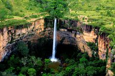 Chapada dos Guimaraes National Park - Get really wild in the Pantanal but don't miss the Véu de Noiva (Bridal Veil Falls). Get really wild in the Pantanal but don't miss the Véu de Noiva (Bridal Veil Falls). #travel #brazil #brasil #worldcup2014 #southamerica #adventure #amazon