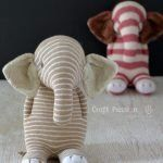 Sock Elephant - Free Sewing Pattern & Tutorial Sew sock elephant by using this ultimate pattern and tutorial. Easy to sew with guide from pictures and instructions. Great as handmade gift – Page 2 of 2 Sewing Patterns For Kids, Sewing Projects For Kids, Sewing For Kids, Free Sewing, Pattern Sewing, Doll Patterns, Bear Patterns, Elephant Stuffed Animal, Sewing Stuffed Animals