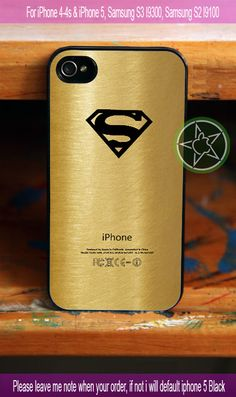 Superman Logo in Gold New Design - iPhone 4 / iPhone 4S / iPhone 5 / Samsung S2 / Samsung S3 / Samsung S4 Case Cover
