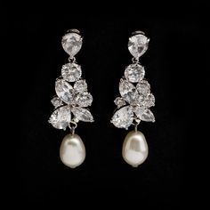 Bridal earrings -Regalia Madame by Stephanie Browne – KEZANI JEWELLERY - designer bridal jewellery and wedding accessories