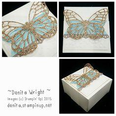 Champagen Glimmer Butterfly Gift Box - Made by Denita Wright Independent Stampin' Up! Demonstrator Australia https://www.facebook.com/denitawright.stampinup.net?ref=bookmarks