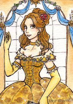 Belle the Beauty ATC by ~insomniel on deviantART