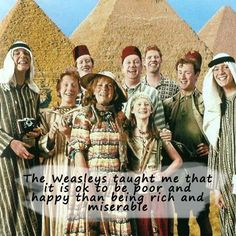 #IMissTheDaysWhen the Weasley family is complete... We miss you, Freddie. PS: Charlie is here.