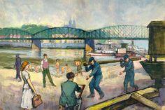 M. Novák - U železničního mostu (50. léta)
