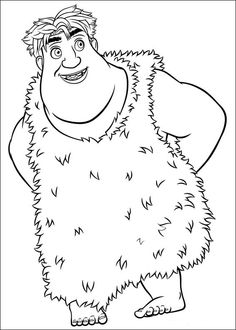 Croods Coloring pages for kids. Printable. Online Coloring. 7