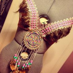 Hey, I found this really awesome Etsy listing at https://www.etsy.com/listing/183119741/dream-catcher-kandi-rave-bra-34c-one-of