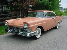 1957 Ford Fairlane 2 door coupe - Owned one of these, only mine was Blue...