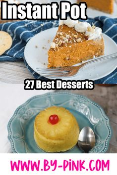 If you recently got an Instant Pot or are an avid user and just looking for more Instant Pot Desserts to make, than you have come to the right place! Feast your eyes on this amazing assortment of tasty Instant Pot Dessert Recipes. Desserts To Make, Delicious Desserts, Dessert Recipes, Yummy Food, Pineapple Upside Down Cake, Best Instant Pot Recipe, Instant Pot Pressure Cooker, Slow Cooker Recipes, Sweet Treats