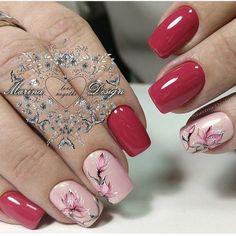 Nail Ink, Nail Manicure, Nail Polish Designs, Nail Art Designs, Pink Nails, Glitter Nails, Cute Nails, Pretty Nails, Nagellack Trends