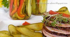 smaczne ogórki w zalewie słodko-kwaśnej doskonałe do kanapek