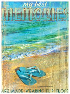 1631FLIPFLOPS-C - Gallery Wrap Giclee On Canvas