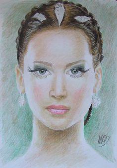 Katniss Everdeen A4 colour pencils