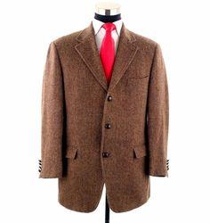 dca24886 Brooks Brothers Harris Tweed Made in Italy Sport Coat Blazer Sport Coat 41R