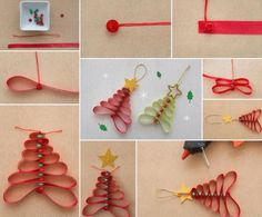 How To Decorate Christmas Trees With Ribbon Pendants | DIY Tag