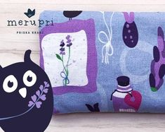 Lovely treat for yourself or a gift for someone you love - handmade lavender pouch filled with organic lavender from France. Made of own designed fabrics printed by Spoonflower    #lavender #pouch #sachet #cushion #gift #merupri #handmade #eco #organic #cotton Nature Illustration, Cute Illustration, Happy Art, Surface Design, Spoonflower, Printing On Fabric, Organic Cotton, Lavender, Coin Purse