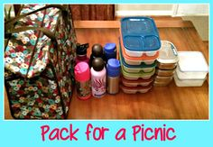 """""""Our Thirty-One Market Thermal Tote holds at least 6 EasyLunchboxes, (we use for lunch), 4 Lunchbots (our snack), 2 Lock and Locks (more snack), 6 waters. Icepacks fit down the sides and on top of lunch/snack containers. Nothing shifts and it is easy to carry."""" - great info and pic courtesy of my friend P. :)"""