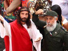Fidel e Jesus, confabulando.