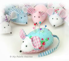 Cute Mouse Pin-Cushion EASY Sewing PATTERN Independent Design. Full Instructions #sewing #mouse #pincushion