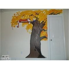 Calvin and Hobbes wall art