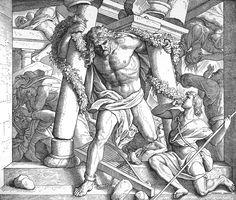 Bilder der Bibel - Simsons Rache und Tod - Julius Schnorr von Carolsfeld