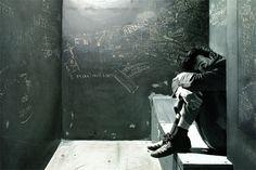 Klaus Voormann's painting of Paul in jail in Hamburg