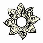 Beautiful stamp, possible tatoo? Wrist Tattoos, New Tattoos, Cool Tattoos, Tatoos, Mehndi Patterns, Doodle Patterns, Stamp Catalogue, Hand Stamped Cards, Sunflower Tattoos