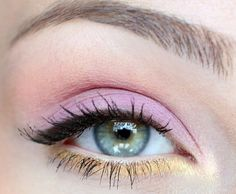 Pink and yellow pastels.