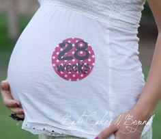 This is a really cute idea for belly pics