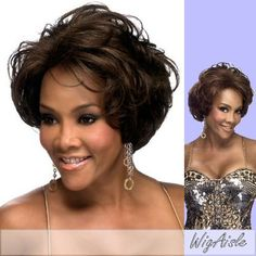 H129-V (Vivica A. Fox) - Human Hair Full Wig in JET BLACK by Vivica A. Fox. $64.99. The color you receive may vary from the swatch shown due to your monitor and the distribution of the color fibers dictated by the style.. Human Hair Full Cap Wig. Medium length. Wavy style. Average cap size. Color 1 is JET BLACK. Styling required to achieve the exact look shown. Color shown is. Color 1 is JET BLACK (Color shown is) - SHORT STRAIGHT BOB WITH FULL SWEEP BANGS. Sty...