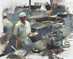 Los Caracoles Kitchen III in Aldo Balding, Robert. Wells & Graeme Wilcox exhibition at Thompson's Gallery London Art Quotidien, Aldo, Sculpture, Gallery, Drawings, Barcelona, Oil Paintings, Wells, Instagram