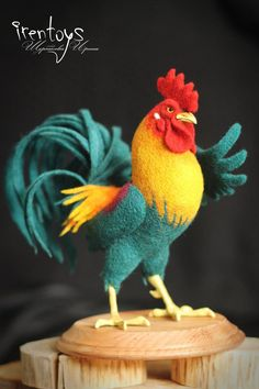 The cockerel [felted toy] by Irentoys on DeviantArt