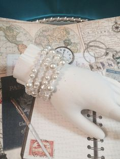 Bridesmaid Bracelets via mademoiselle. Click on the image to see more!