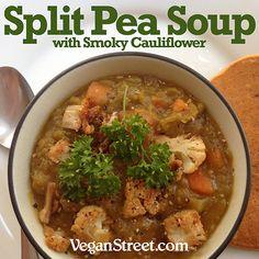 Split Pea Soup with Smoky Cauliflower