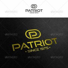 Patriot  Letter P — Vector EPS #corporate design #identity • Download here → https://graphicriver.net/item/patriot-letter-p/3516370?ref=pxcr