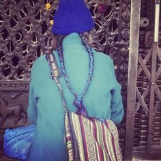 All decked out in #blue. #himalayanjourney #nepal #wanderlust #buddhism