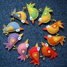 Zany bird pins