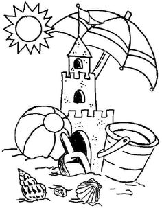 Abandoned Sand Castle Coloring Page