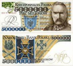 Old Polish Notes Poland People, Money Template, The Color Of Money, Passport Card, Money Notes, Euro Coins, Coin Collecting, Retro, Nostalgia