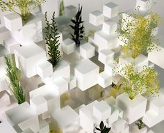 Marking his first work in Paris, japanese architect Sou Fujimoto has created a monumental installation in Paris - Jardins des Tuileries, composed of suspended metal cubes and plants, for the FIAC Architecture Art Design, Education Architecture, Japanese Architecture, Concept Architecture, Classical Architecture, Landscape Architecture, Architecture Models, Architecture Interiors, Landscape Design